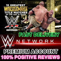 WWE Network Premium Account     30 days WARRANTY   Fast Delivery