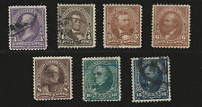Scott # 253-259 Used Graded SCV $ 154.50 Mostly F-VF And lightly Canceled