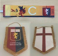 Genoa fascia CAP + GAGLIARDETTO Serie A match issued CAPTAIN armband + pennant