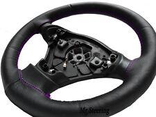 Pour MERCEDES CLASSE A W168 véritable cuir noir volant couvrir violet Stitch