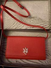 $695 Alexander McQueen Red Leather Crossbody Bag 439180 9880
