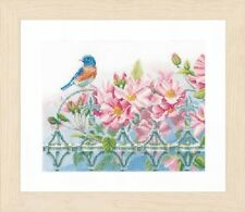 Lanarte Cross Stitch kit 0156946 Wren and Flowers