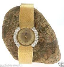 Baume Mercier Vintage Wrist Watch Ladies Quartz Diamond Bezel  14k Yellow Gold