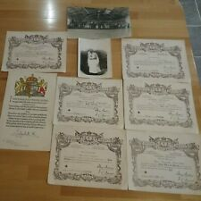 Nurse Ethel Chandler photo and Certificates - 1940 -1947 - Weston Super Mare