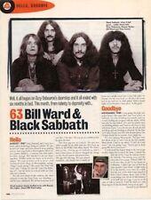 Hello, Goodbye Bill Ward & Black Sabbath Mag Cutting