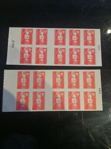 Lot 20 timbres 2 carnets TVP Lettre prioritaire 20g adhesifs faciale 25,6 €