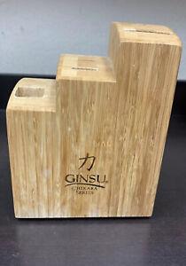 Ginsu Chikara Series Seven Slot Bamboo Knife Block Only 3 Tiers (No Knives)