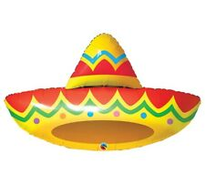 Fiesta Sombrero Shape Foil Balloon Spanish Mexican Birthday Party Decoration 41""