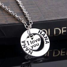 ' i Love You' Plateado Familia Corazón Colgante Collar Navidad Regalo Boho A143
