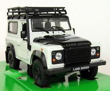 Nex Models 1/24 Scale - Land Rover Defender 90 White + Snorkel Diecast model car