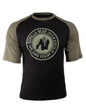 🦍 UK 2XL. Genuine Gorilla wear Texas T-Shirt. Black/Army. New+tags. Gym.