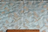 """Lovely Antique French Ice Blue Lyon Silk Home Dec Fabric Sample c1870~39""""LX21""""W"""