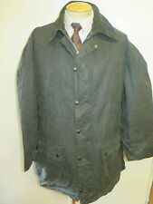 "Vintage Barbour A205 Border Waxed jacket - L 44"" Euro 54 in Blue"