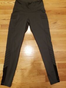 """LUCY - WOMEN'S SMALL- Gray YOGA FITNESS PANTS TIGHTS 25"""""""