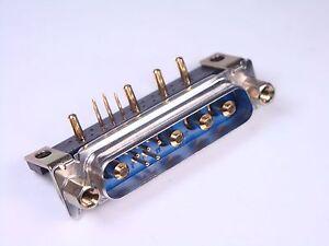 CBM9W4M55B30TS Positronic Male 9 Pos Combo D Sub Connector Right Angle Size 3