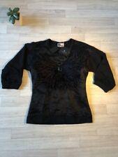 Lanvin Pull Noir Embelli Nouveau Lanvin Pull £ 1199 Plume Large