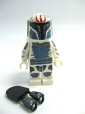 Cheek Lines and High Brow Pre Vizsla  #42 Lego Star Wars Large Blue Eyes