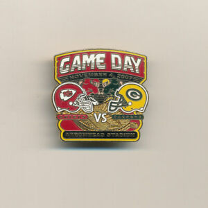 2007 Kansas City Chiefs vs Packers NFL Football Game Day Pin
