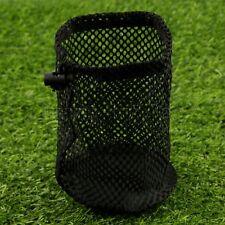 Large BULK Nylon Mesh Bag Pouch 12-16 Golf Tennis Balls Black Playing Game Use