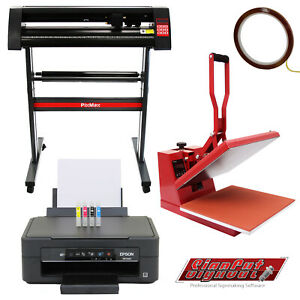 "Vinyl Cutter Sublimation Printer Heat Press Plotter Machine 28"" T-Shirt Printing"