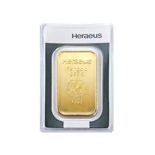 50 Gramm Goldbarren Heraeus Gold 999,9 Feingold Barren