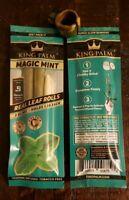4 King Palm MAGIC MINT Slim Rolls w/ Blunt Ring. Natural Palm Leaf Tobacco Free
