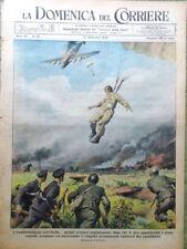 La Domenica del Corriere 12 Settembre 1943 WW2 Paracadutisti Marina Bassini Navi