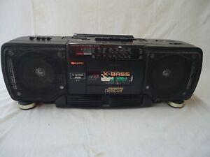 sharp wq t 237 boombox ghettoblaster, ,working,