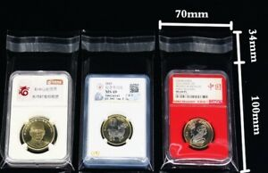 200 Coin Slab Holder Protective Sleeves (10 cmx 7cm) Self adhesive for PCGS NGC