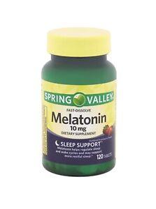 Spring Valley Fast-Dissolve Melatonin Tablets 10 mg - Sleep Support - 120 count