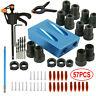 57PCS 15° Pocket Hole Screw Jig Dowel Drill Set Wood Tool kit Angle Hole Locator