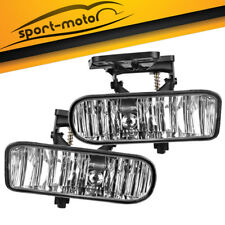 for 99-02 GMC Sierra / 01-06 GMC Yukon Clear Front Bumper Fog Lights Lamps PAIR