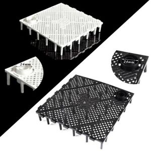 Fish Tank Durable Plastic Fish Grid Divider Holder Tray Egg Crate Aquarium