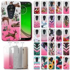 For Motorola Moto G7 Play / T-Mobile Revvlry Bling 2 Tone Glitter Case Cover