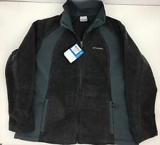 Columbia Sugarcreek III Women's Fleece Jacket Gray On Gray Full Zipper Size 2X