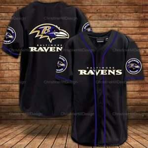 Baltimore Ravens  3D Baseball Shirt For Men For Women XS_4XL