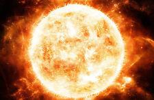 Enmarcado impresión radiante de fuego de un sol caliente (imagen galaxy universo Sistema Solar
