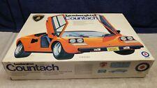 Vintage Entex Lamborghini Countach Plastic Model Kit 1:12 Scale Boxed Sealed