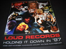 LOUD RECORDS Holding It Down 1997 PROMO POSTER AD Mob Deep WU-TANG others