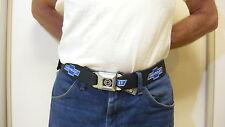 Chevrolet Blue Bowtie Seatbelt Belt Chevrolet Bowtie -Mens Belt - Buckle Down