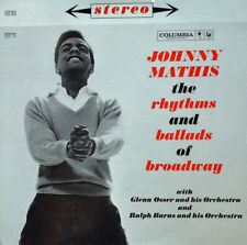 JOHNNY MATHIS - RHYTHMS & BALLADS OF BROADWAY -COLUMBIA - 2 LP SET - 6 EYED LOGO