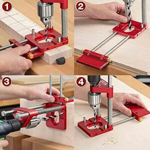 1* Drill Locator Alloy Stell Woodworking Drilling Template Guide Tool Adjustable