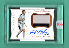 GIANLUIGI BUFFON 2018 NATIONAL TREASURES SOCCER AUTOGRAPH RELIC SP # / 10 ITALY
