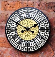 """Garden Clock Outdoor indoor 12"""" Garden Station Wall Clock Big Ben Westminster"""
