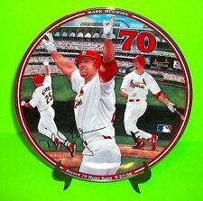"MARK MCGWIRE PLATE  MLB BASEBALL HOME RUN HERO ""RECORD 70 HR"" St Louis Cardinals"