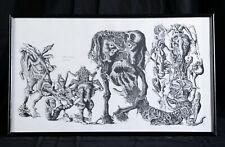 Dessin Fantastique Original à la plume de Médéric signé Médé