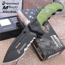 Couteau Tactical de L'USMC US Marines Acier Carbone/Inox Manche Abs USMA1053GN