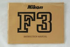 Original Nikon F3 Instruction Book Manual in User Cond.