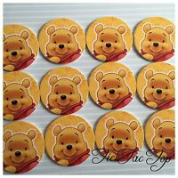 12pcs Winnie The Pooh foam cupcake TOPPERS. Jelly Cup Party Decorations