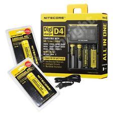 NITECORE Digicharger D4 for IMR/Li-ion/Ni-MH/Ni-Cd/LifePO4 w/2X NL189 batteries
